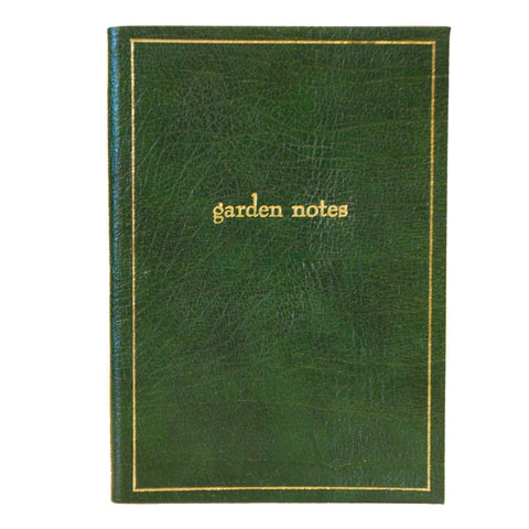 "Leather Notebook, 8x6, ""Garden Notes"" 