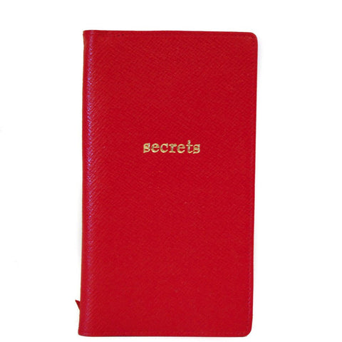"""Secrets"" Leather Cover with Removable Notes, 6 by 3 Inches"