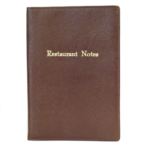 """Restuarant Notes"" Leather Cover with Removable Notes, 8 by 6 Inches-Titled Notebooks-Sterling-and-Burke"