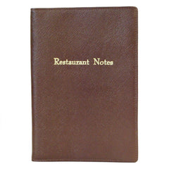 "Leather Cover with Removable Notes, 8x6, ""Restaurant Notes""-Titled Notebooks-Sterling-and-Burke"