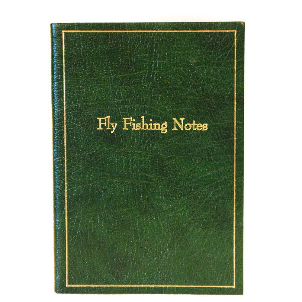 "Calf Notebook, 8x6, ""Fly Fishing Notes""-Titled Notebooks-Sterling-and-Burke"