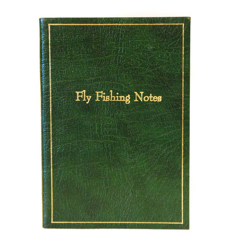 "Leather Notebook, 8x6, ""Fly Fishing Notes"" 