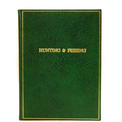 "Calf Notebook, 8x6, ""Hunting & Fishing"", Blank Pages-Titled Notebooks-Sterling-and-Burke"