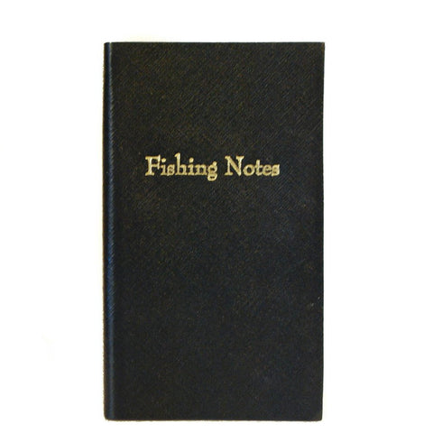 "Crossgrain Leather Notebook, 7x4, ""Fishing Notes"""