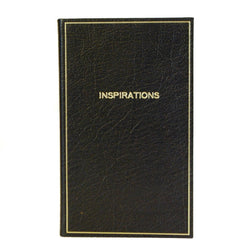 "Leather Notebook, 7x4, ""Inspirations"" 