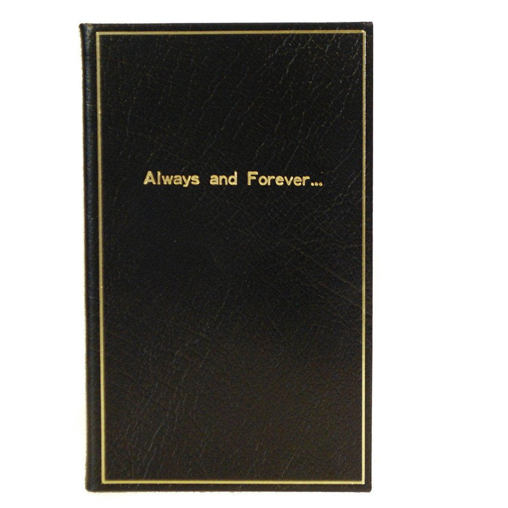 "Leather Notebook, 7x4, ""Always and Forever..."" 