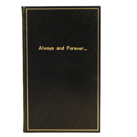 "Calf Notebook, 7x4, ""Always and Forever..."""