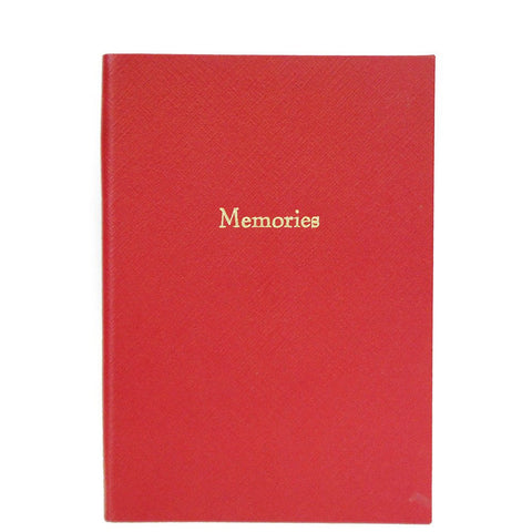 "Crossgrain Leather Notebook, 8x6, ""Memories""-Titled Notebooks-Sterling-and-Burke"