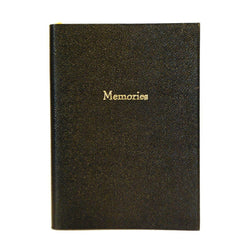 """Memories"" Crossgrain Leather Notebook, 8 by 6 Inches-Titled Notebooks-Sterling-and-Burke"