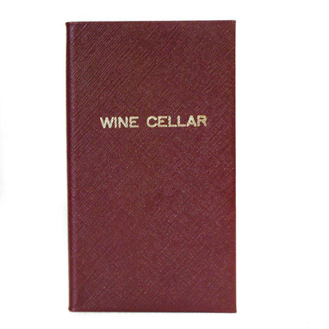 """Wine Cellar"" Crossgrain Leather Notebook, 7 by 4 Inches-Titled Notebooks-Sterling-and-Burke"