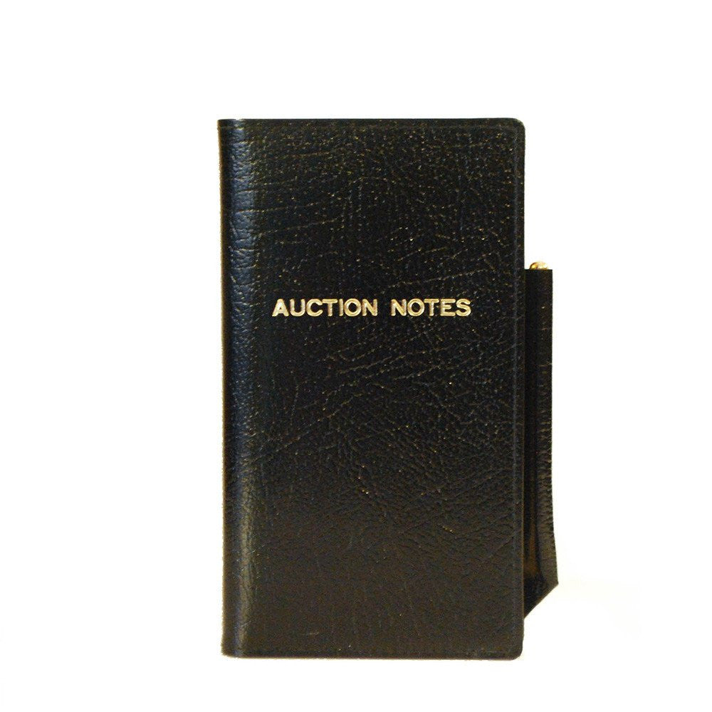 "Leather Cover with Removable Notes, 6x3, ""Auction Notes""-Titled Notebooks-Sterling-and-Burke"