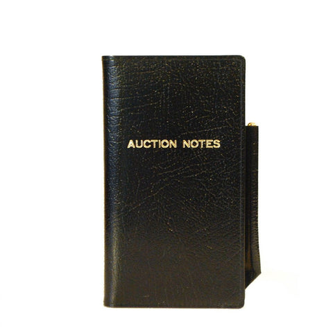 "Leather Cover with Removable Notes, 6x3, ""Auction Notes"""