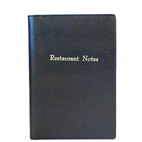 """Restuarant Notes"" Leather Cover with Removable Notes, 8 by 6 Inches"