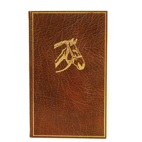 Leather Notebook, 7x4, Horse Motif | Buffalo Calf | Charing Cross-Titled Notebooks-Sterling-and-Burke