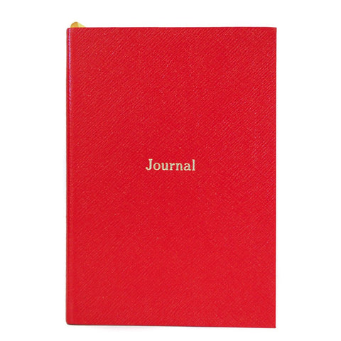 """Journal"" Crossgrain Leather Notebook, 8 by 6 Inches"