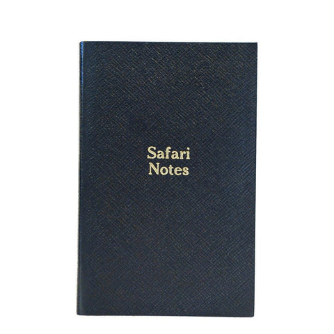 """Safari Notes"" Crossgrain Leather Notebook, 7 by 5 Inches"