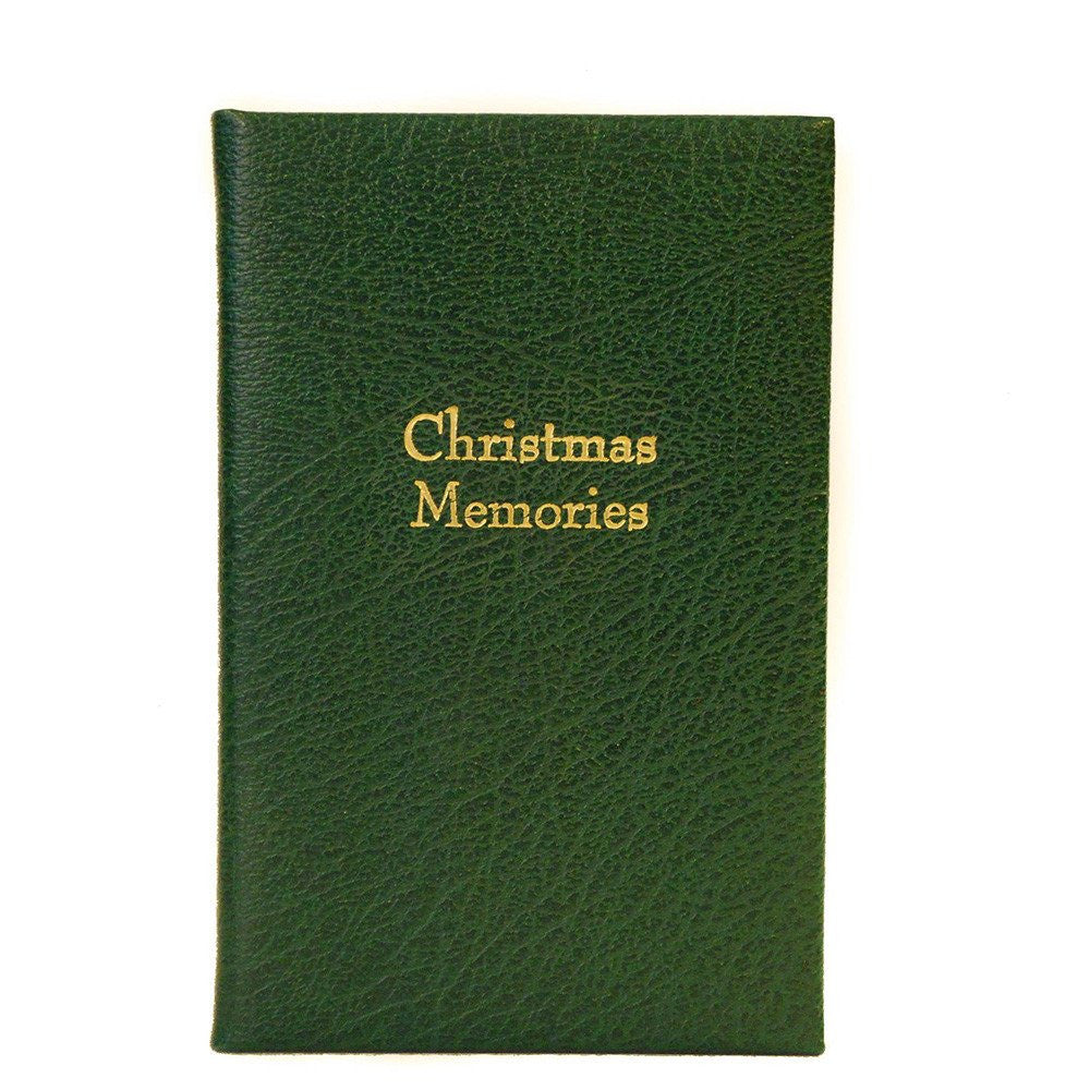 """Christmas Memories"" Calf Notebook, 7 by 5 Inches-Titled Notebooks-Sterling-and-Burke"