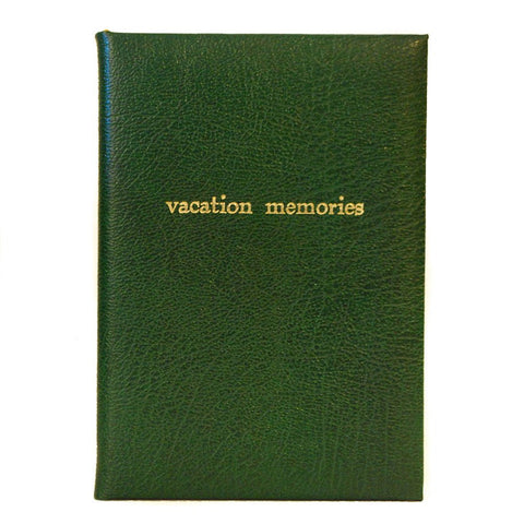 """Vacation Memories"" Calf Notebook, 8 by 6 Inches"
