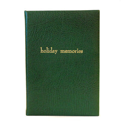 """Holiday Memories"" Calf Notebook, 8 by 6 Inches-Titled Notebooks-Sterling-and-Burke"