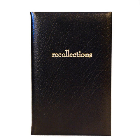 "Calf Leather Notebook, 7x5, ""Recollections"""