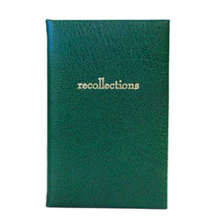 "Leather Notebook, 7x5, ""Recollections"" 