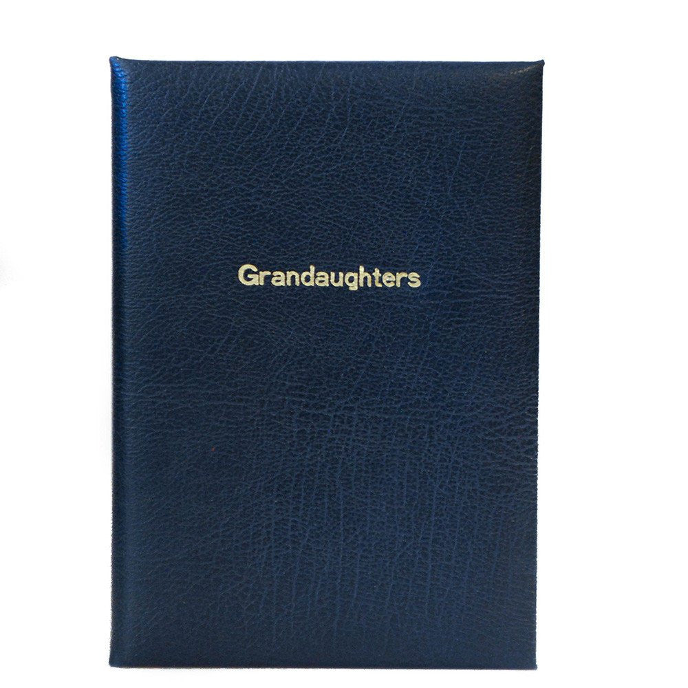 """Grandaughter"" Calf Notebook, 8 by 6 Inches-Titled Notebooks-Sterling-and-Burke"