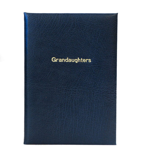 "Calf Notebook, 8x6, ""Grandaughters"""