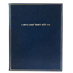 "Calf Notebook, 8x10, ""I Carry Your Heart With Me""-Titled Notebooks-Sterling-and-Burke"