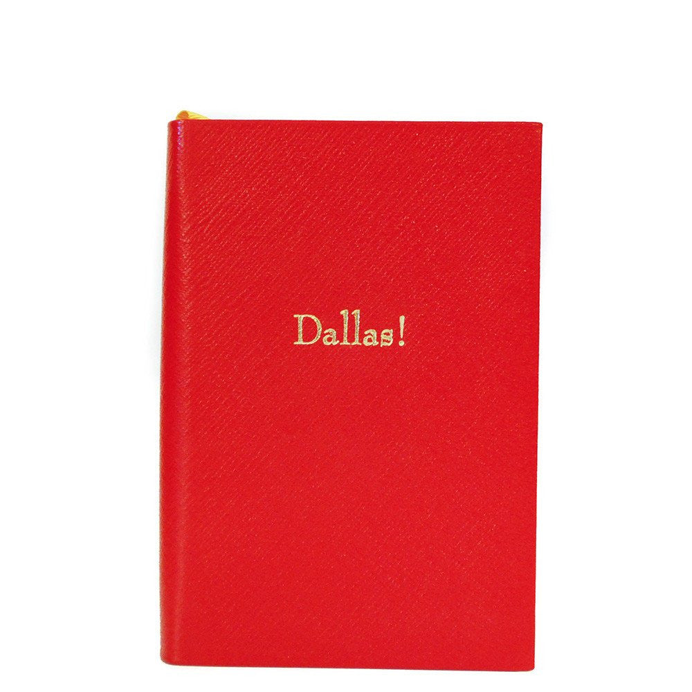 "Crossgrain Leather Notebook, 6x4, ""Dallas!""-Titled Notebooks-Sterling-and-Burke"