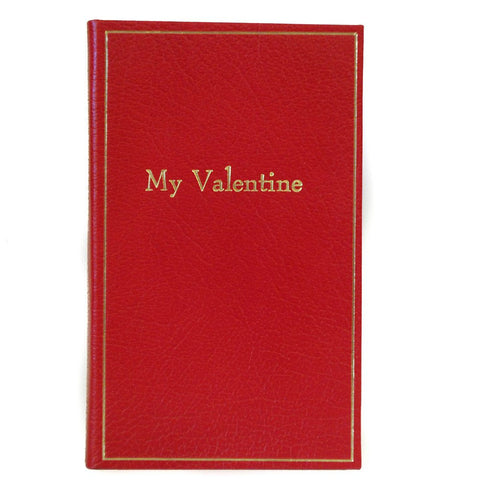 "Leather Notebook, 7x4, ""My Valentine"" 