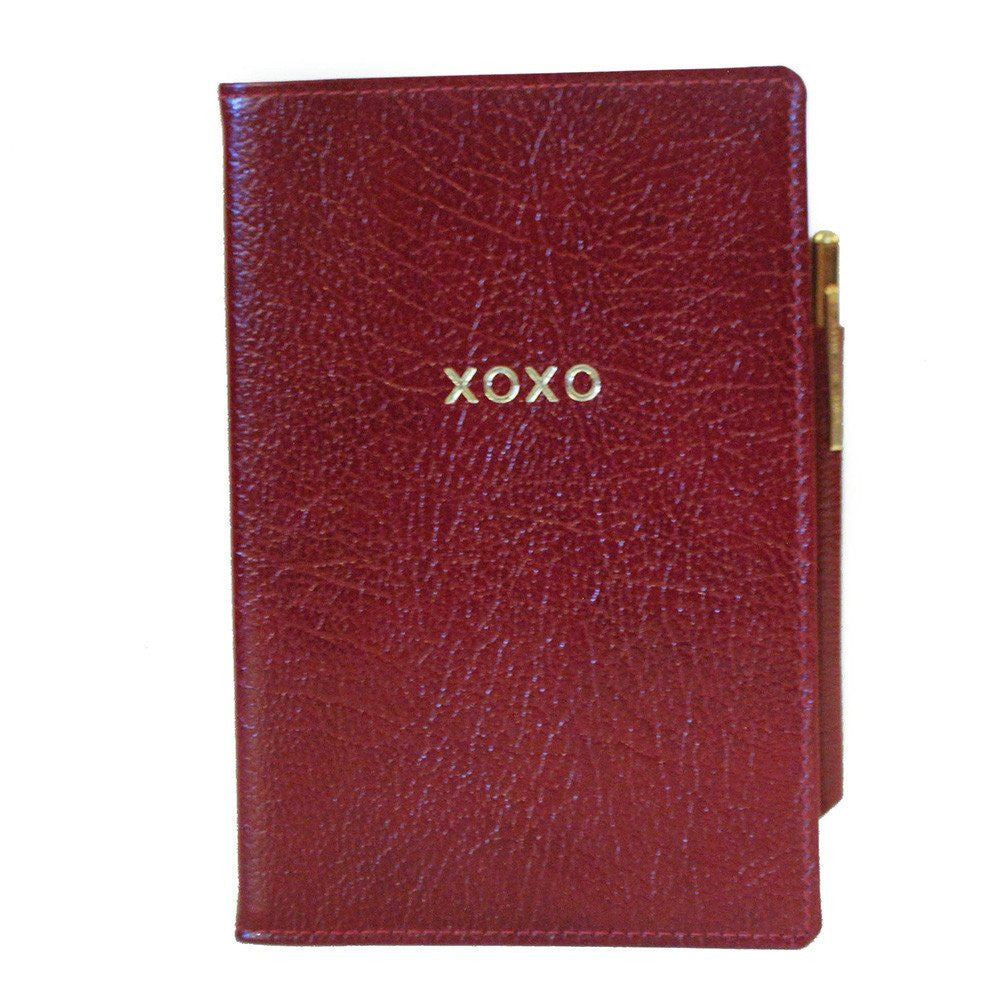 """XOXO"" Leather Cover with Removable Notes, 6 by 4 Inches-Titled Notebooks-Sterling-and-Burke"