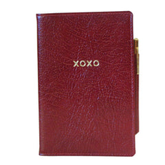 "Leather Cover with Removable Notes, 6x4, ""XOXO""-Titled Notebooks-Sterling-and-Burke"
