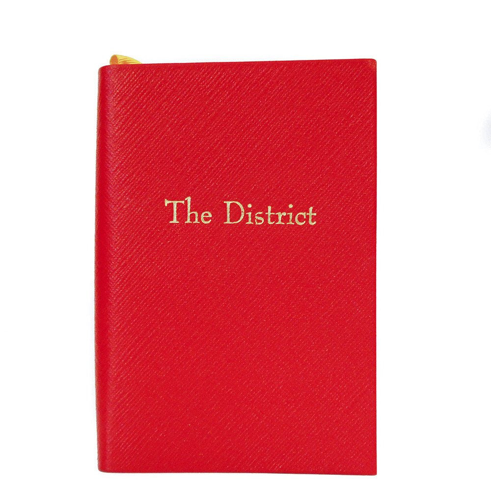 """The District"" Crossgrain Leather Notebook, 6 by 4 Inches-Titled Notebooks-Sterling-and-Burke"
