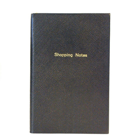"Crossgrain Leather Notebook, 7x4, ""Shopping Notes"", Blank Pages"