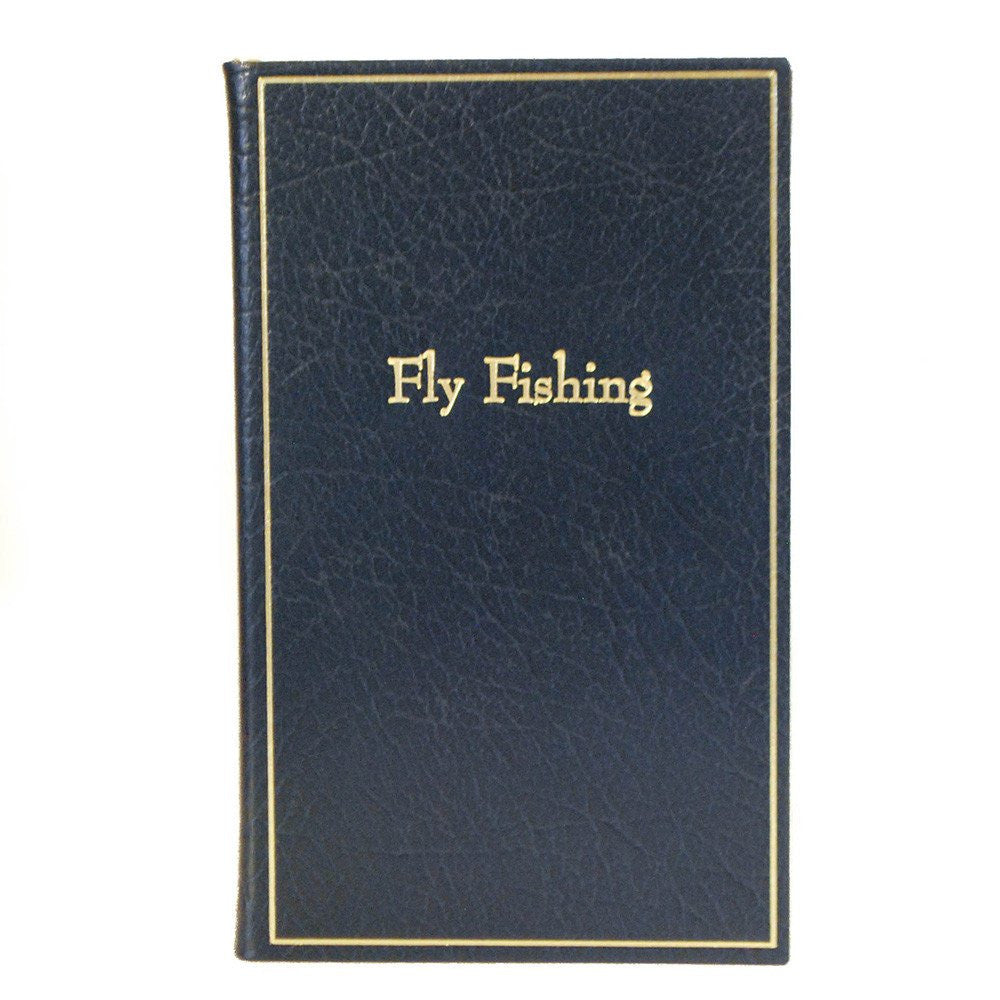 "Leather Notebook, 7x4, ""Fly Fishing"" 