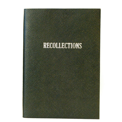 """Recollections"" Crossgrain Leather Notebook, 8 by 6 Inches"