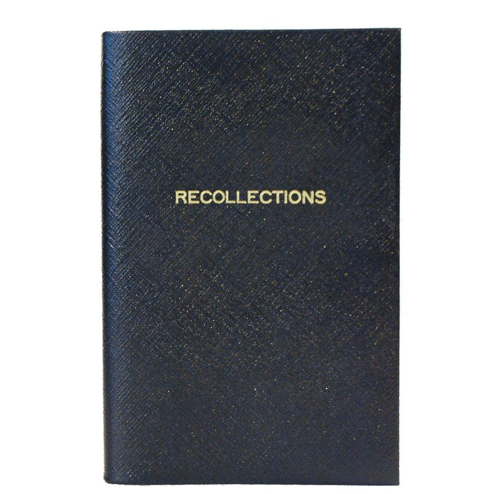 """Recollections"" Crossgrain Leather Notebook, 7 by 4 Inches-Titled Notebooks-Sterling-and-Burke"