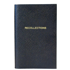 "Crossgrain Leather Notebook, 7x4, ""Recollections""-Titled Notebooks-Sterling-and-Burke"