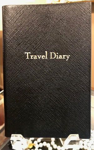 Crossgrain Leather Notebook | 7 by 4 Inches | Lined | Travel Diary | Made in England | Charing Cross