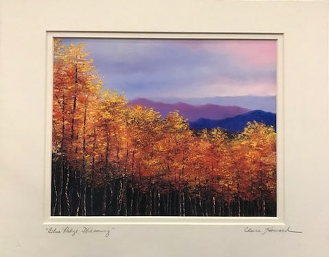 "Art | Blue Ridge, Dreaming | Giclee with Mat, Hand Signed by Claire Howard | 11"" x 14"""