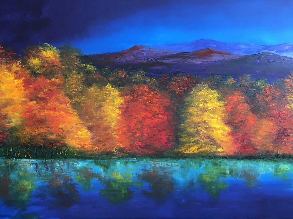 "Art | Blue Ridge Melodies | Original Oil Painting by Claire Howard | 30' x 48""-Oil Painting-Sterling-and-Burke"