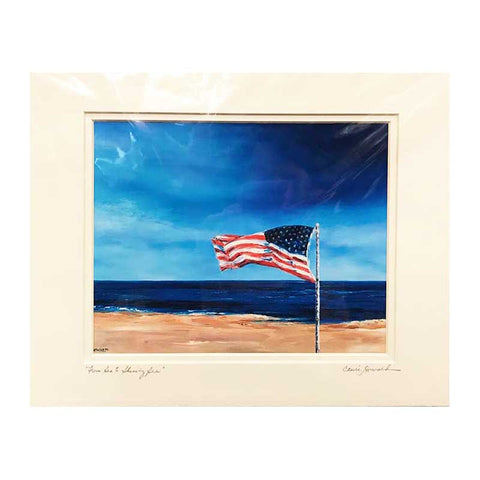 From Sea to Shining Sea Print, 11 by 14 Inches