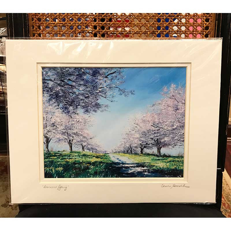 Glorious Spring | Springtime in Washington | Giclee Print | 10 by 8 Inches | Claire Howard-Giclee Print-Sterling-and-Burke