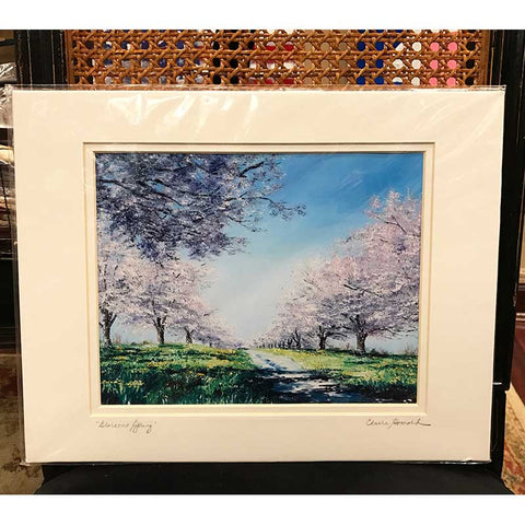 "Art | Glorious Spring | Springtime in Washington | Giclee | Hand Signed by Claire Howard | 8"" x 10"""