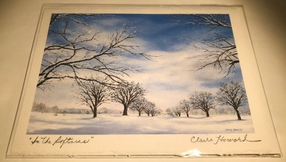 In The Softness | Hand Signed by Claire Howard | 5 by 7 Inches-Greeting Cards-Sterling-and-Burke