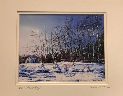 "Art | It's A Snow Day! | Giclee With Mat Hand Signed by Claire Howard | 11"" x 14""-Giclee Print-Sterling-and-Burke"