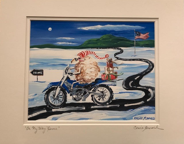 "Art | On My Way Home | Giclee With Mat Hand Signed by Claire Howard | 11"" x 14""-Giclee Print-Sterling-and-Burke"