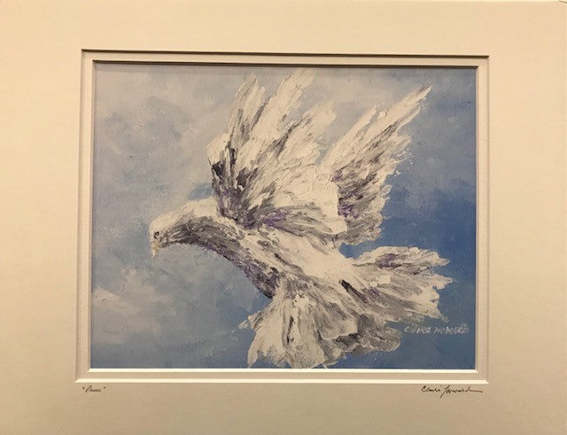 "Art | Peace | Giclee by Claire Howard | 11"" x 14""-Giclee Print-Sterling-and-Burke"