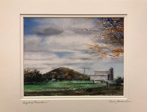 "Art | Sugarloaf Mountain | Giclee with Mat | Handsigned by Claire Howard | 8"" x 10""-Giclee Print-Sterling-and-Burke"