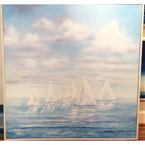 "CUSTOM ORDER | Original Oil Painting | ""Summer Sailing"" 